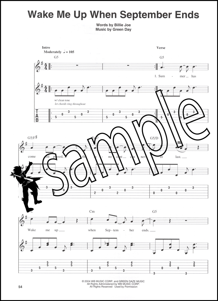 727x1006 Green Day Easy Guitar Play Along Bookcd Hamcor