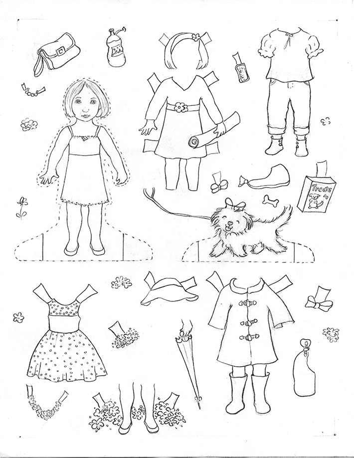 710x918 How To Make Paper Dolls