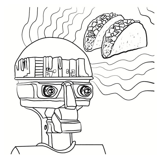 640x640 Coloring Book From El Rey Del Art Frida Bot, Taco Dreams