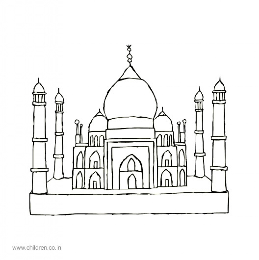 Taj Mahal Cartoon Drawing at GetDrawings
