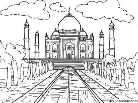 450x337 Dibujo Del Taj Mahal Indian Decor Paintings