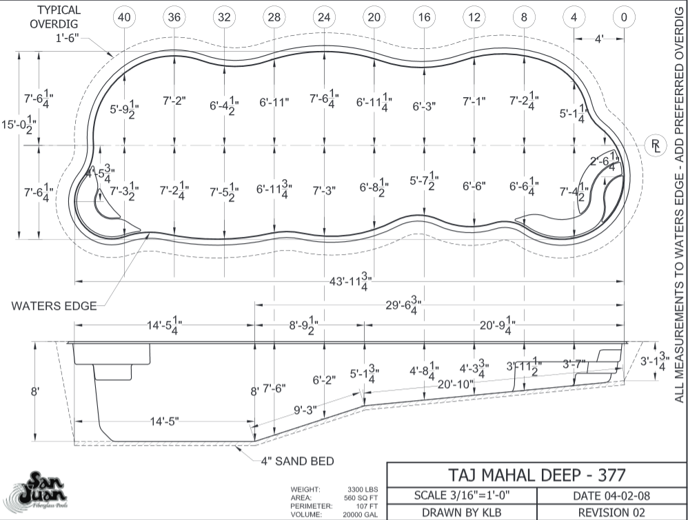 998x755 Taj Mahal Deep Dig Plan Fiberglass Pools