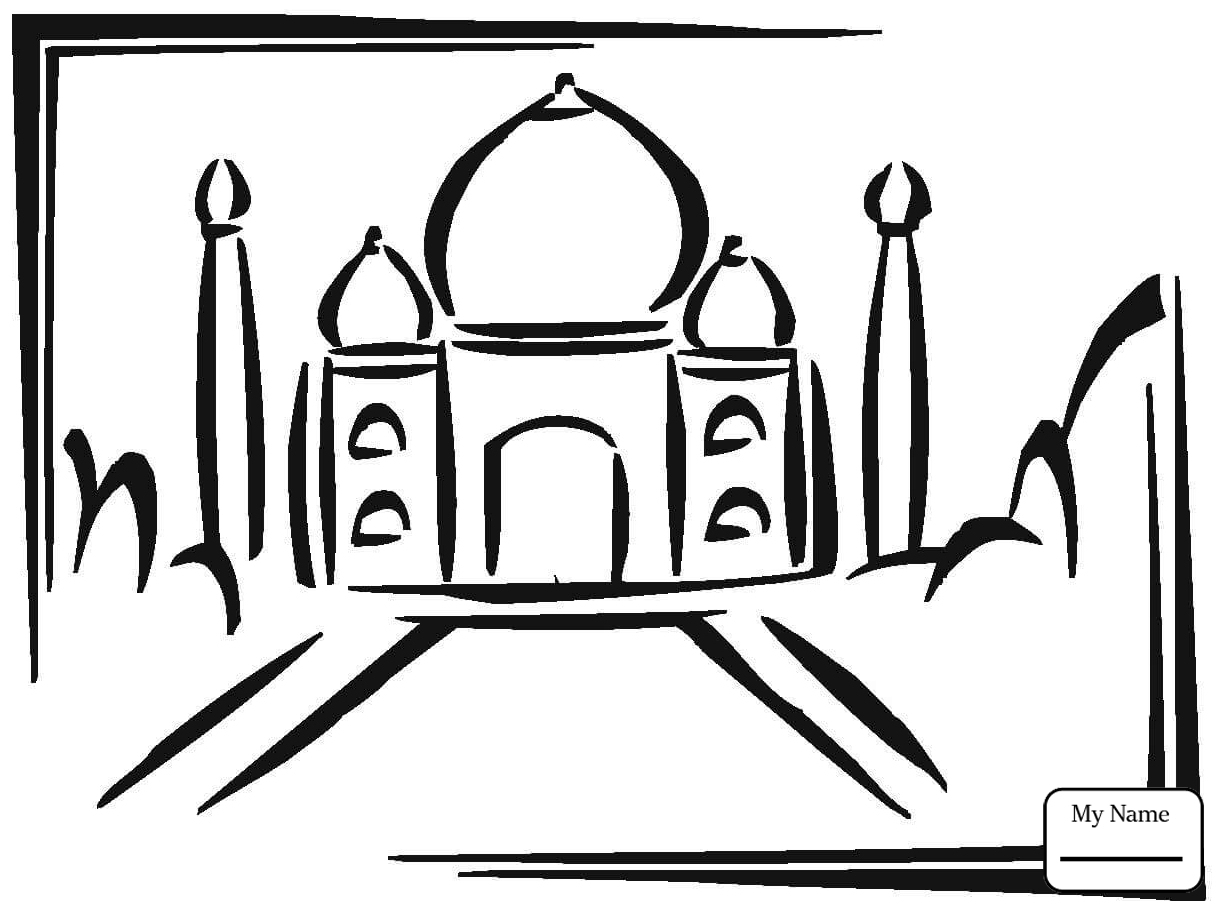 1224x910 India Taj Mahal In India Countries Cultures Coloring Pages