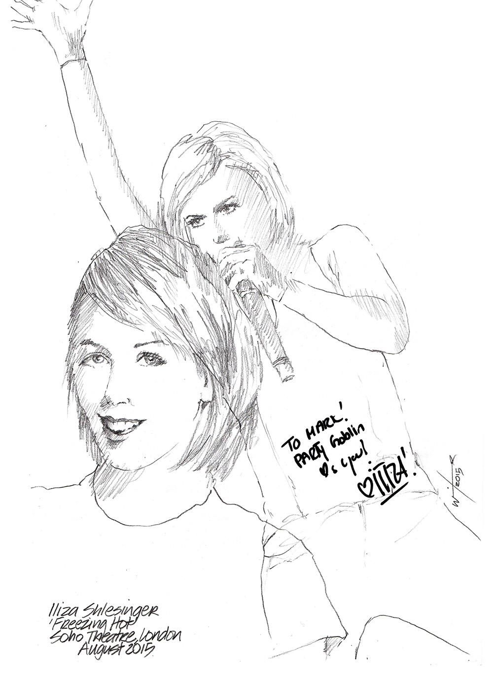 1000x1373 Drawing Iliza Shlesinger In Freezing Hot Chicanepictures