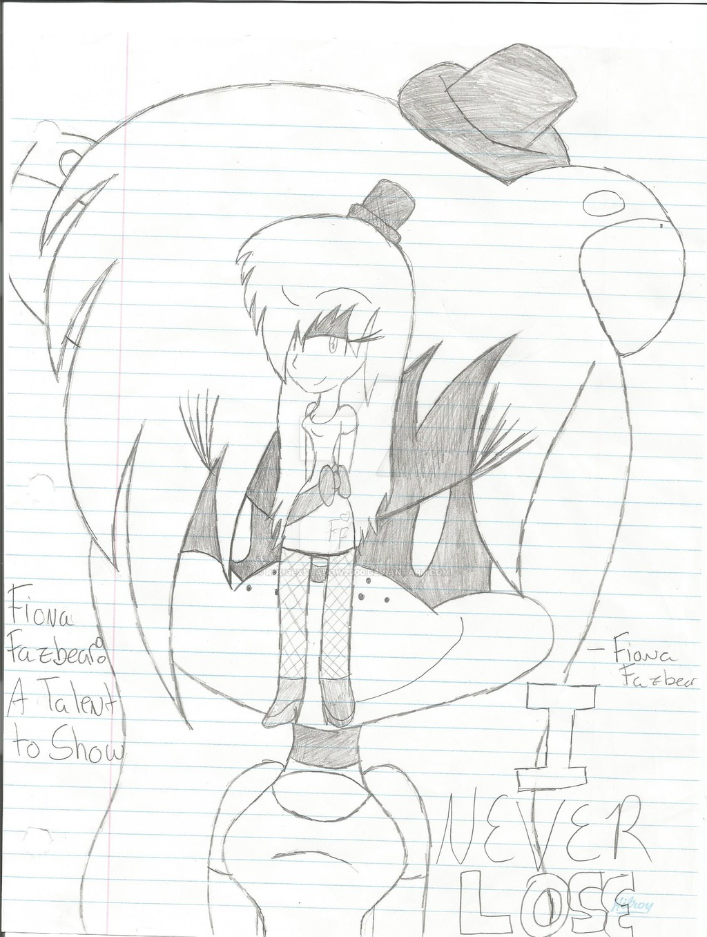 1024x1356 Fiona Fazbear A Talent To Show Cover By Rougexshadow2000