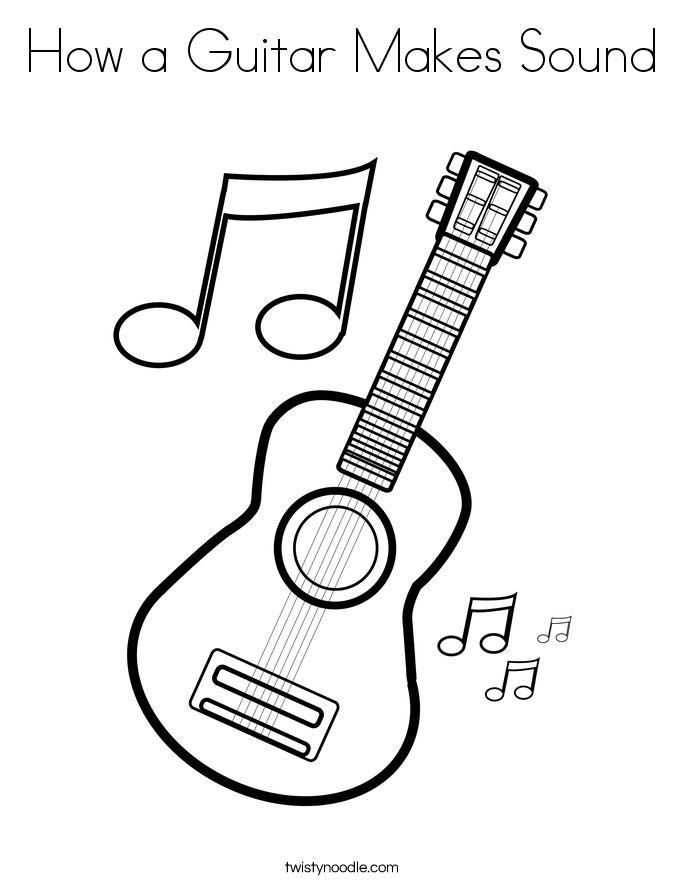 685x886 How A Guitar Makes Sound Coloring Page