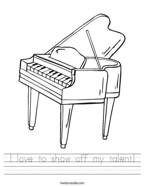 468x605 I Love To Show Off My Talent Worksheet