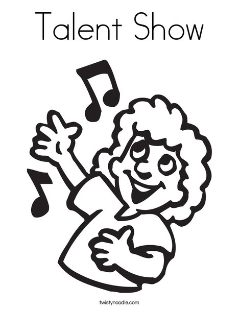 468x605 Talent Show Coloring Page