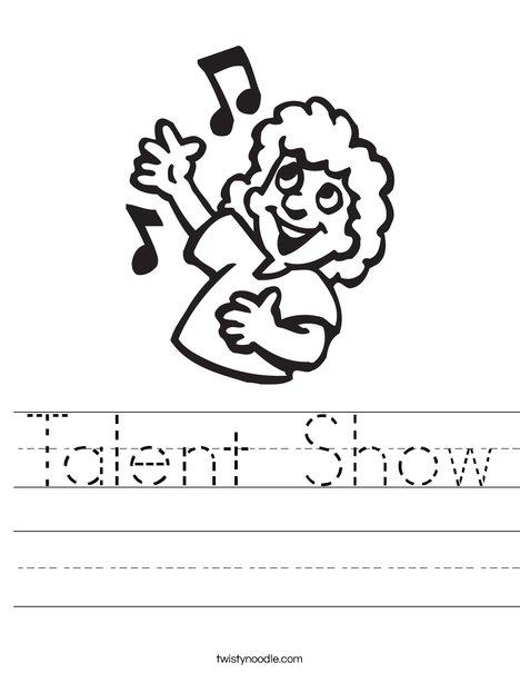 468x605 Talent Show Worksheet