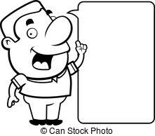 221x194 Happy Man Talking Drawing