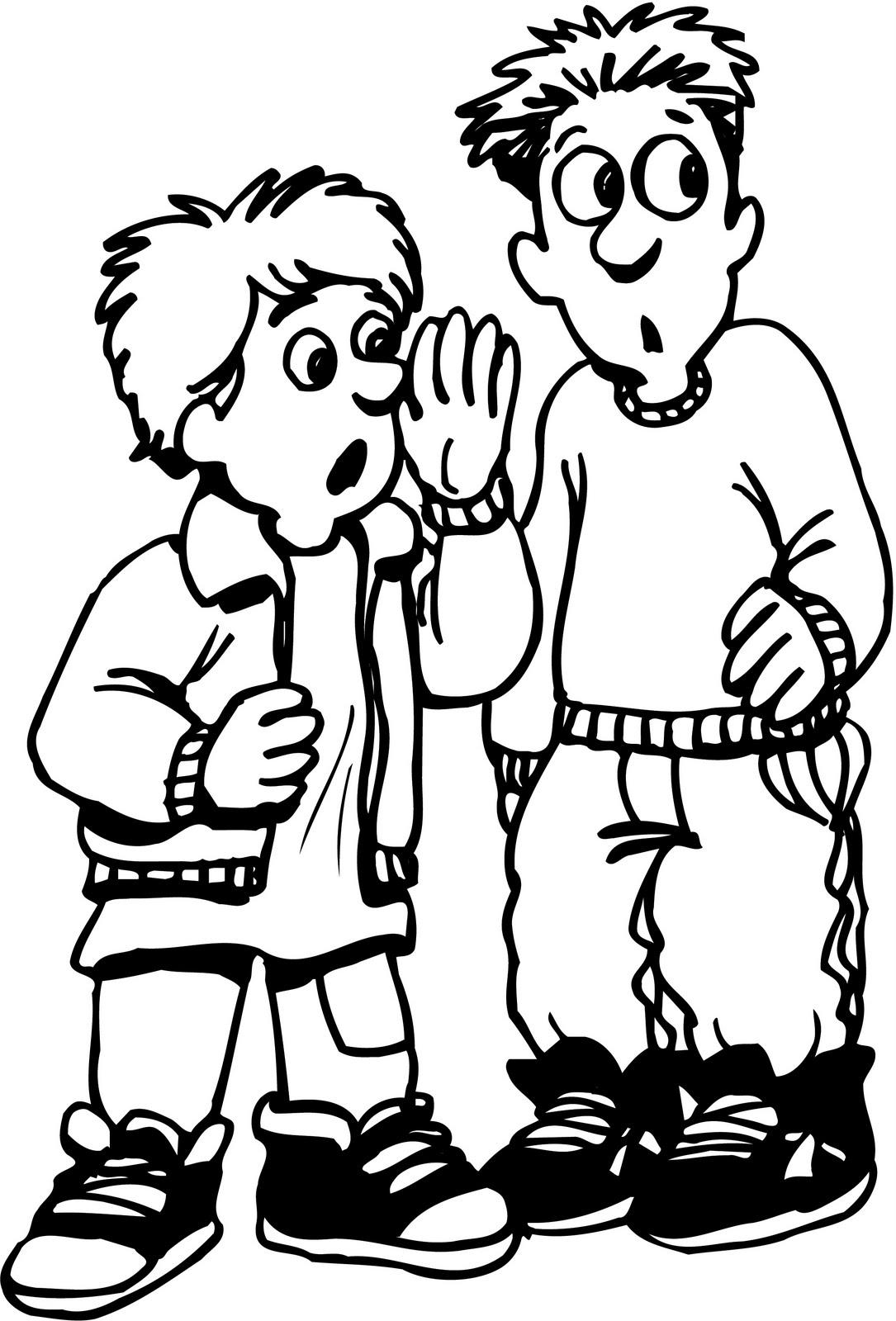 Magnífico Coloring Pages Kids Talking Colección de Imágenes - Ideas ...