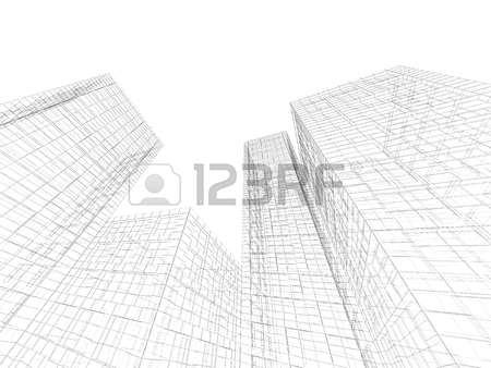450x338 Digital Graphic Background. Abstract Tall Buildings Perspective