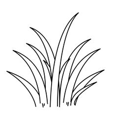 236x236 Grass Pattern. Use The Printable Outline For Crafts, Creating