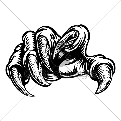 500x500 Claw Hand Monster Talons Gl Stock Images
