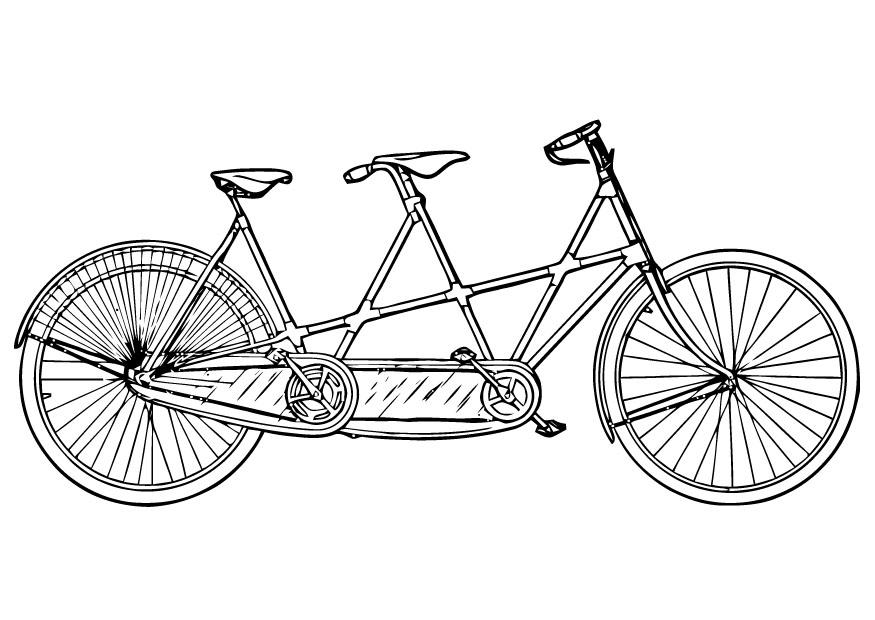 875x620 Coloring Page Tandem
