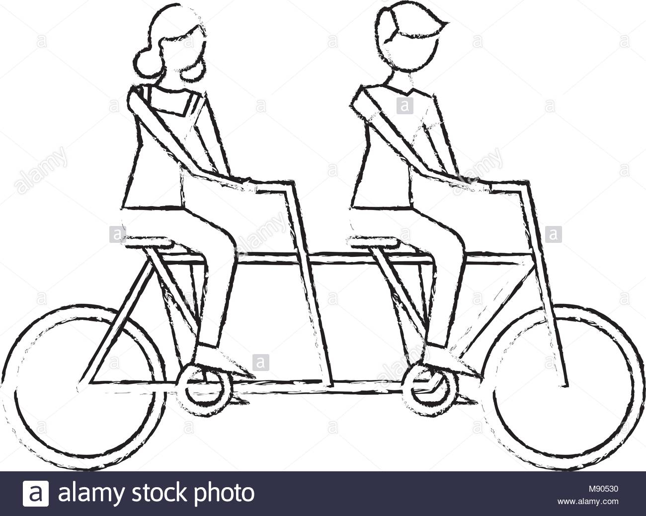 1300x1039 Tandem Bike Black And White Stock Photos Amp Images