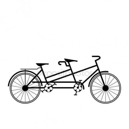 450x450 Bicycle Tandem Trolley Trailer Tent Accessories Stock Vector