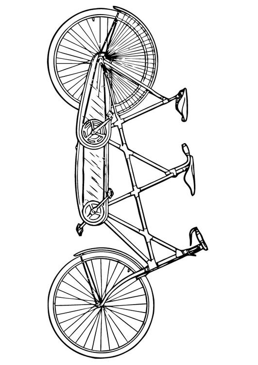 531x750 Coloring Page Tandem