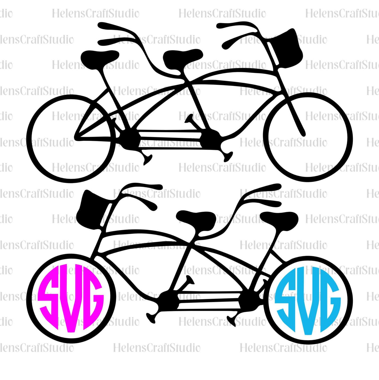 1495x1500 Tandem Bike Svg Cutting File Cricut Bike Svg Files Tandem Bike