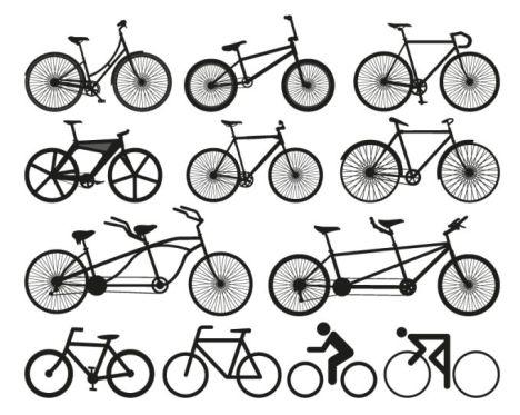 468x373 Vector Bikes