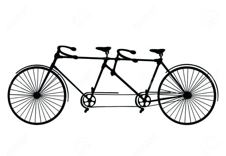 728x503 Vintage Collage Illustration Wedding Tandem Rose Basket Bike Best