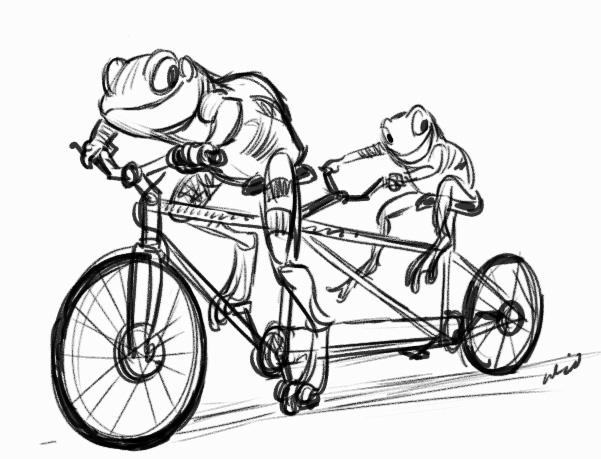 601x459 Bicycle Scribble, Scrabble, Babble