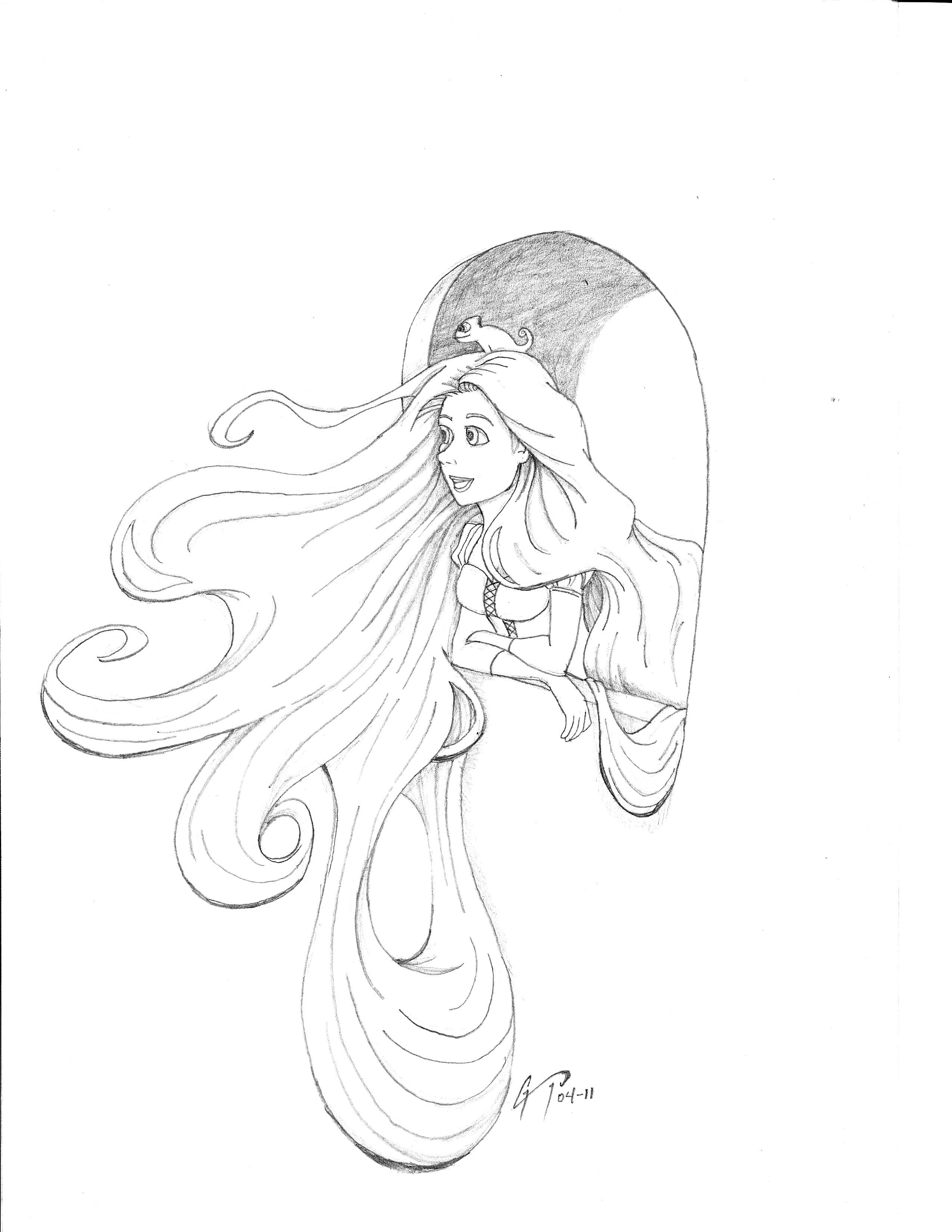 2550x3300 Recent Drawings Rapunzel