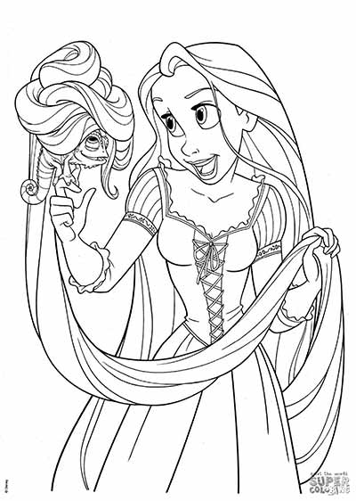 Tangled Rapunzel Drawing