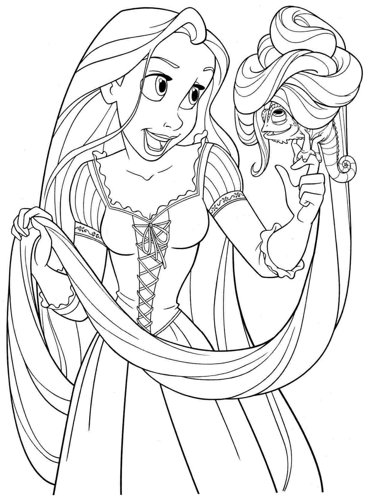 1228x1654 Rapunzel Printable Coloring Pages Free For General Tangled To