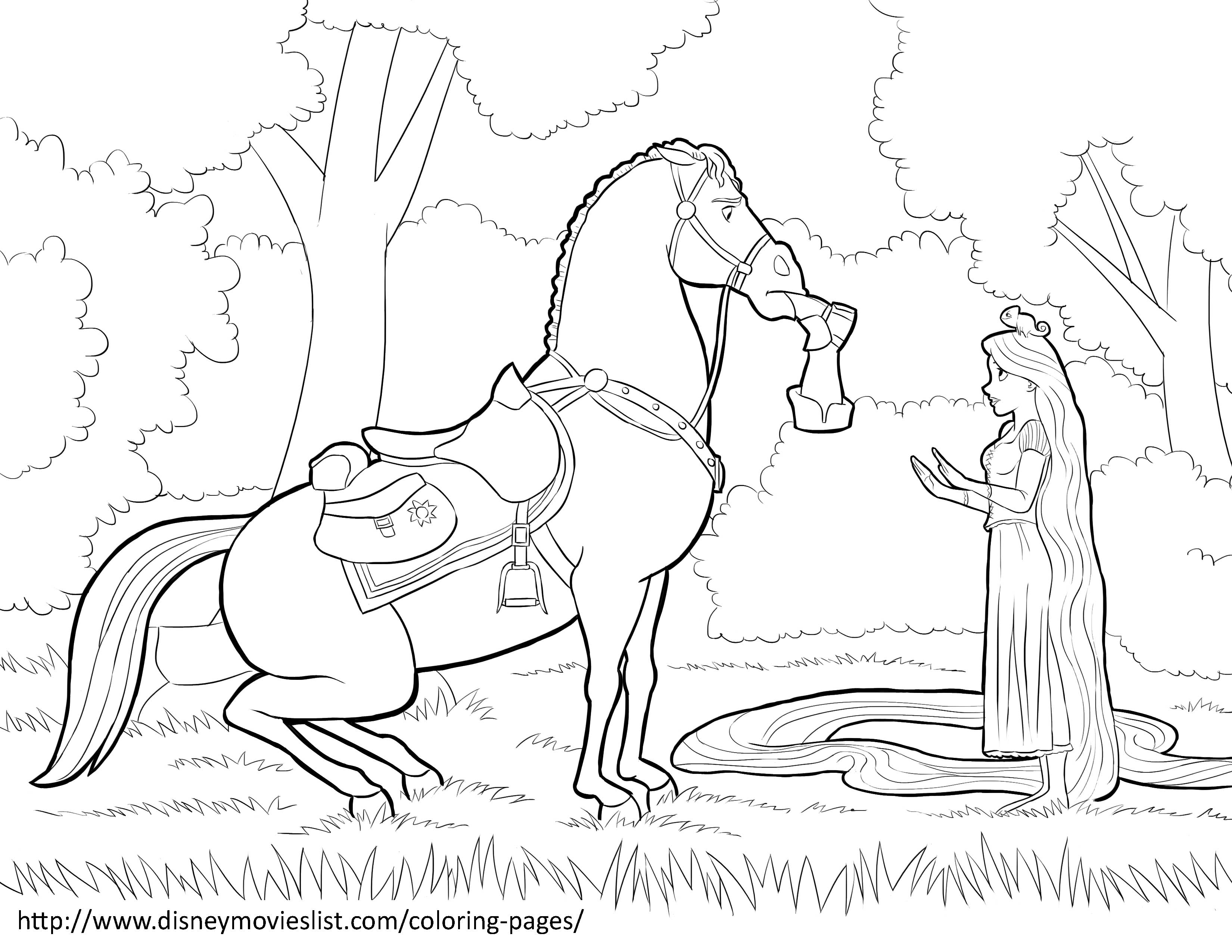 3300x2550 Tangled Maximus Coloring Pages On If You Want To Print The Disney