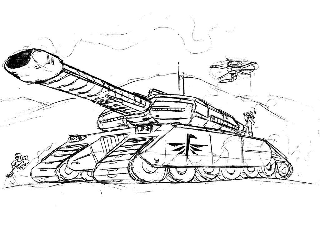 1024x728 Galactic Tank(Sketch) By Deneerad