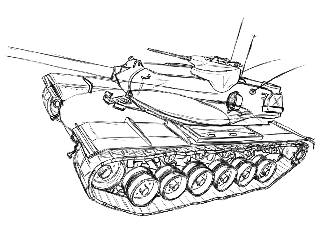 1400x1050 How To Draw A T110e5