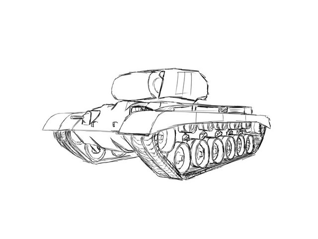 640x480 How To Draw An M46 Patton!