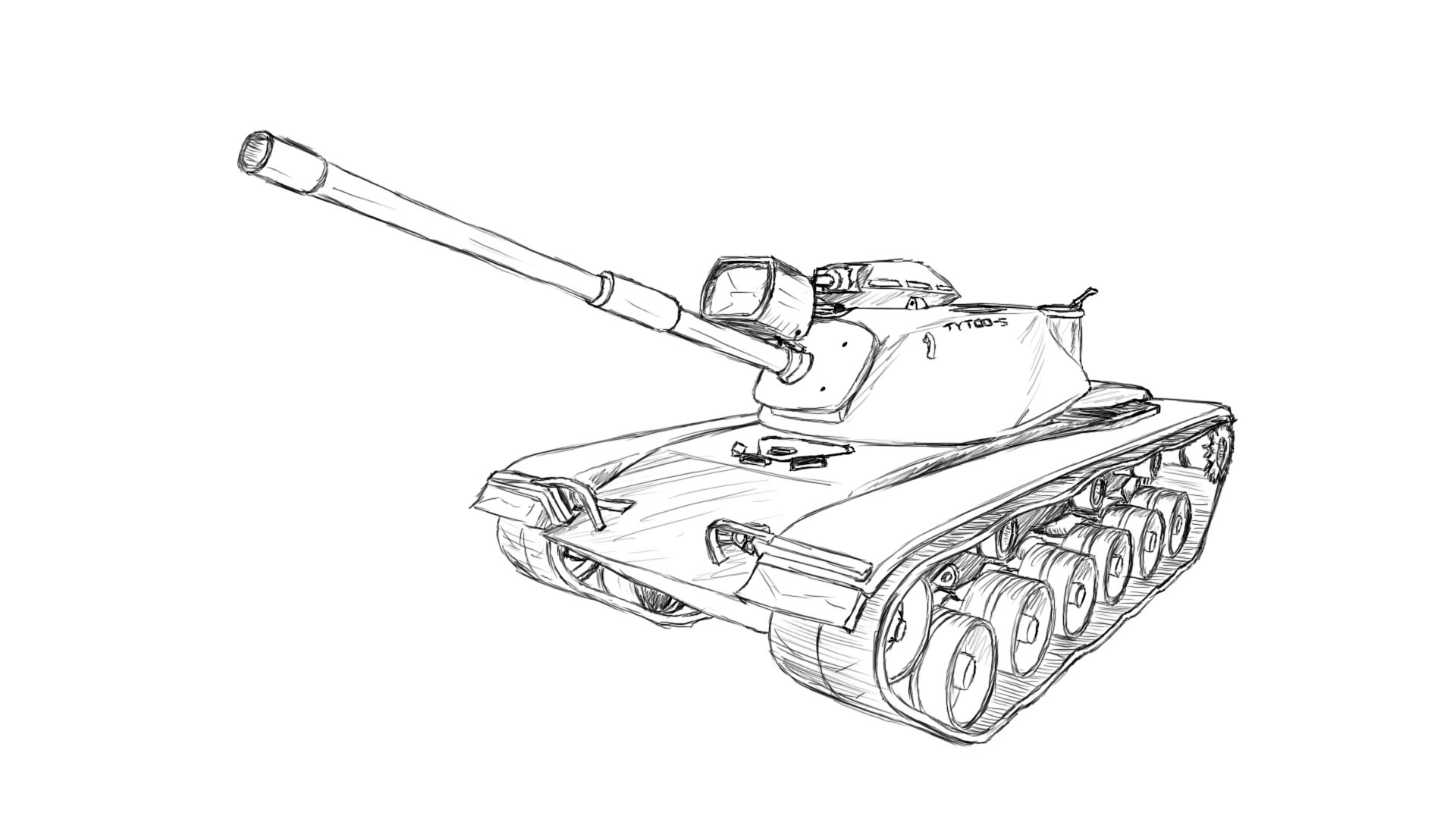 1920x1080 How To Draw An M60!