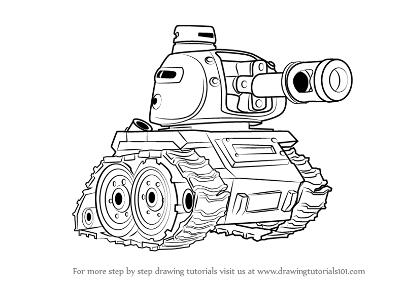 800x565 Learn How To Draw Tank From Boom Beach (Boom Beach) Step By Step