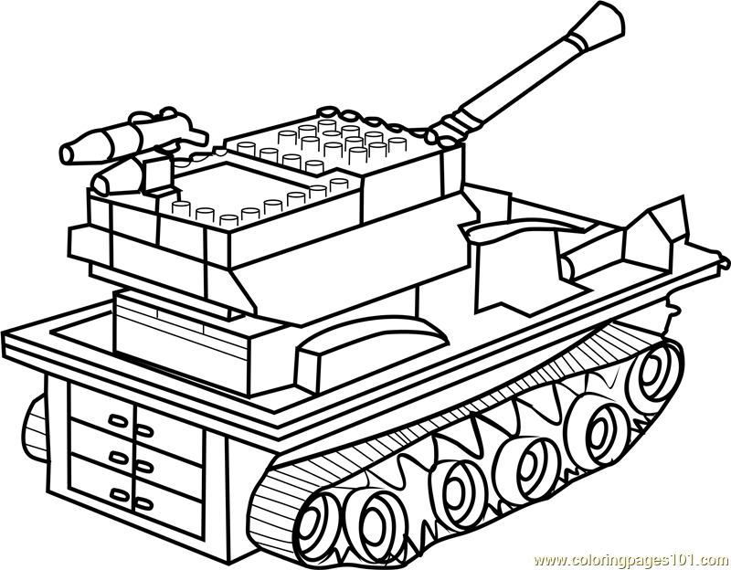800x624 Lego Tank Coloring Page