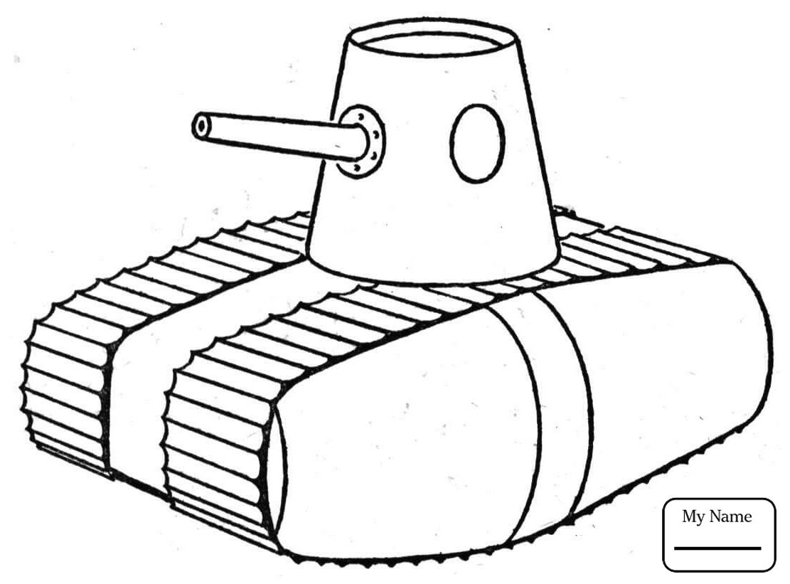 1111x821 Coloring Pages For Kids Ww1 Style Tank Tanks Military
