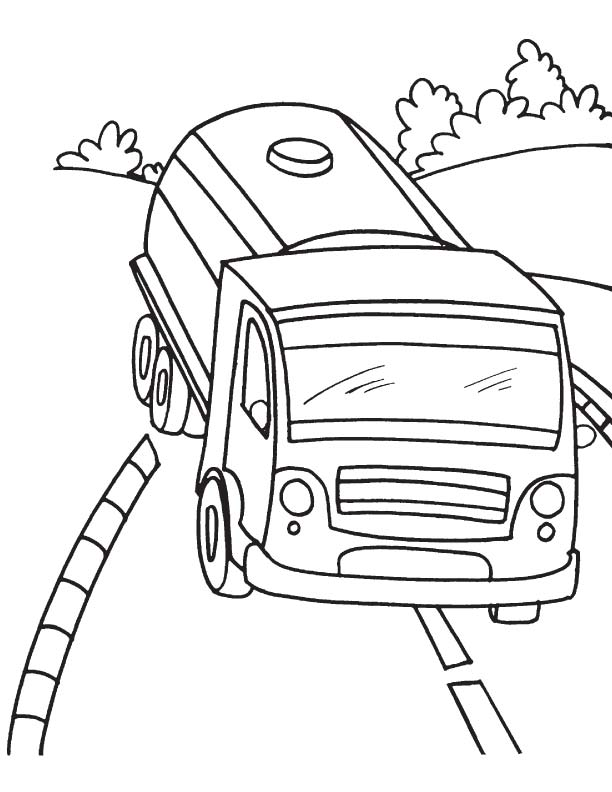 612x792 Juice Tanker Truck Coloring Page Download Free Juice Tanker