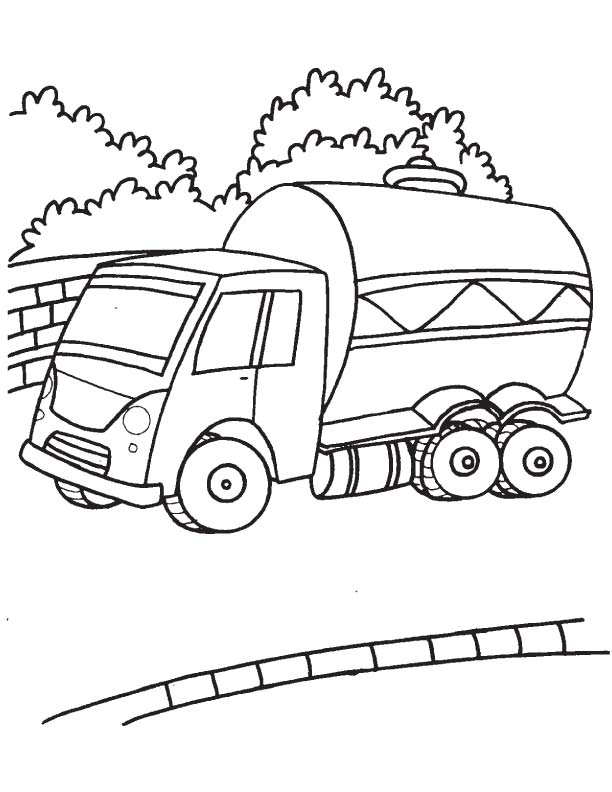 612x792 Large Tank Truck Coloring Page Download Free Large Tank Truck