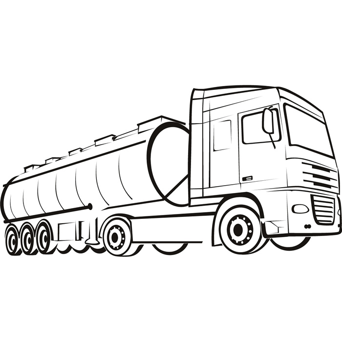 700x700 Oil Tanker Wall Sticker Large Truck Wall Decal Industrial