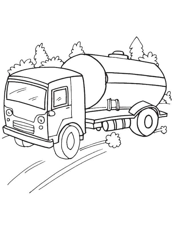 612x792 Speedy Oil Tanker Coloring Page Download Free Speedy Oil Tanker