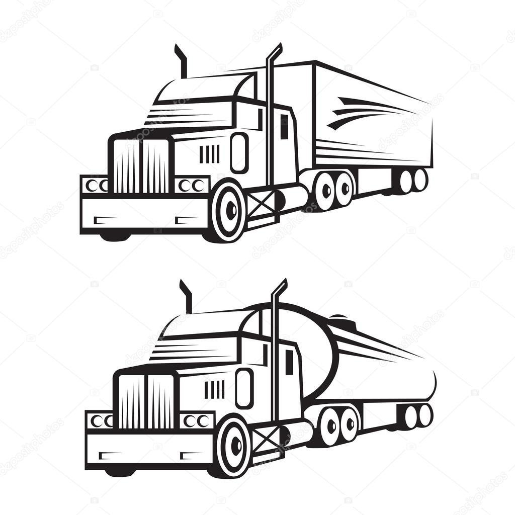 1024x1024 Truck And Tank Truck Stock Vector Alexkava