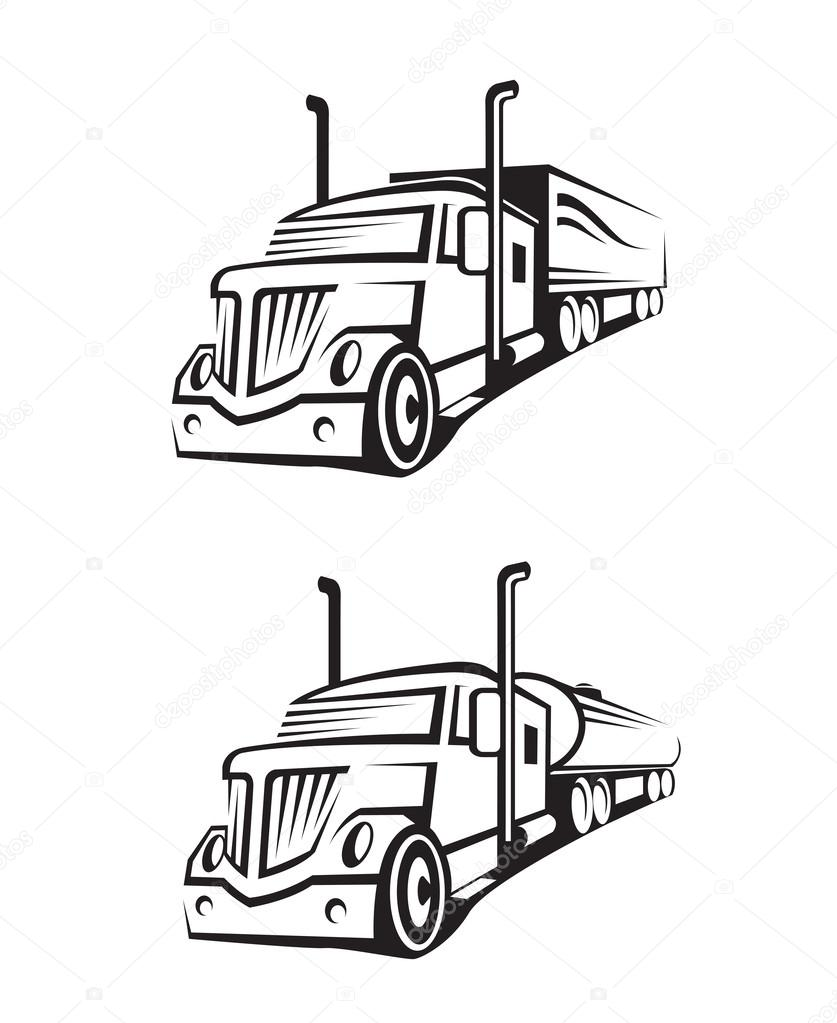837x1023 Truck And Tank Truck Stock Vector Alexkava