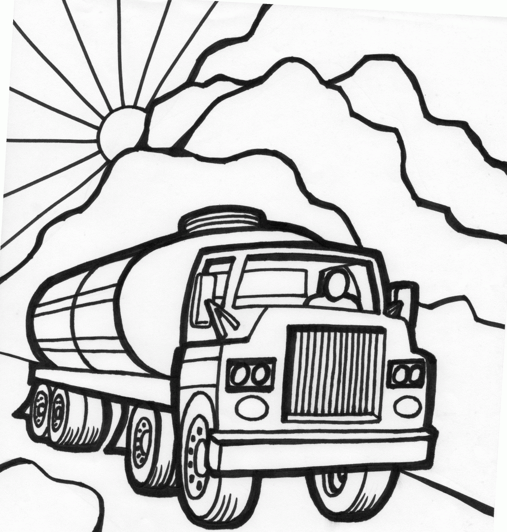 1000x1050 Tanker Truck Coloring Page Fast Car Coloring Page Monster Truck