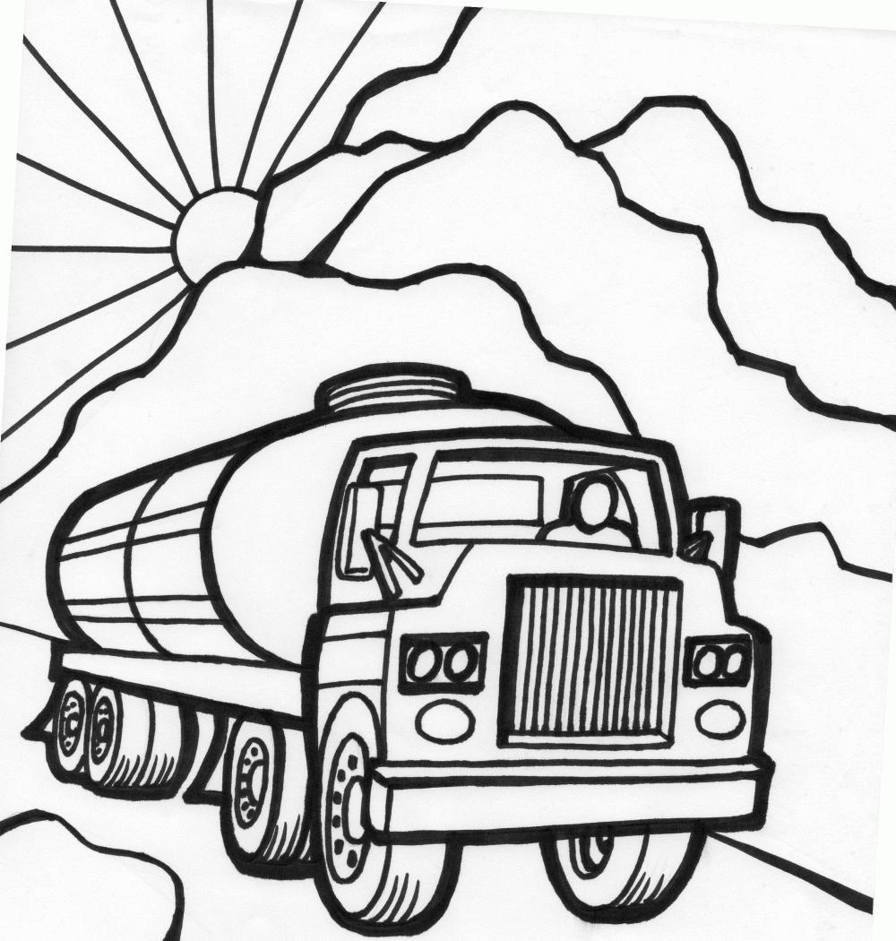 Tanker Truck Drawing at GetDrawings | Free download
