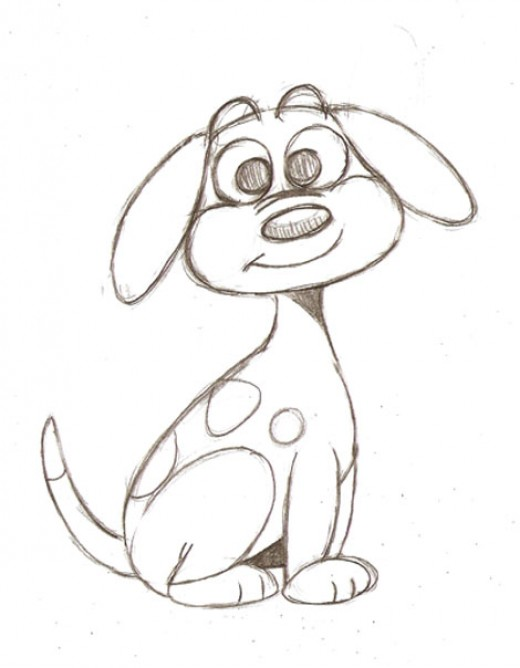 520x668 Learn To Draw A Simple Cartoon Dog In This Easy To Follow
