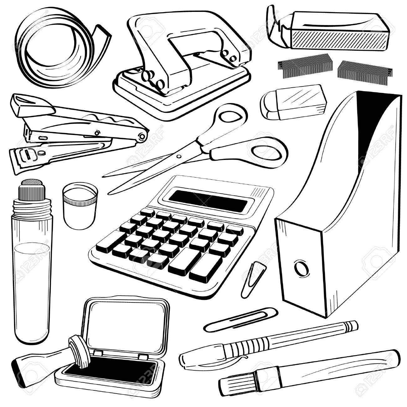1300x1300 Office Tape Punch Hole Stapler Scissor Calculator Gum Glue Company
