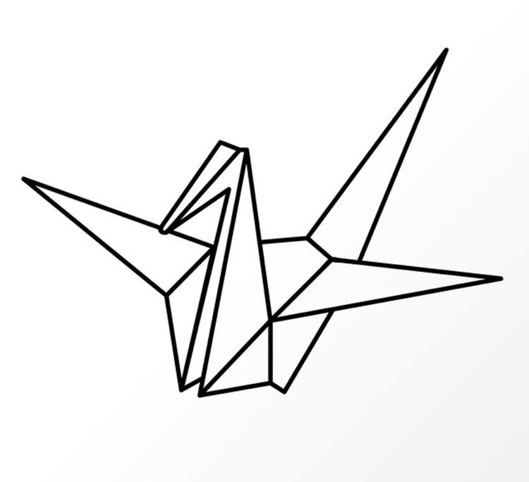 750x683 Origami Vogel Zu Fensterdeko