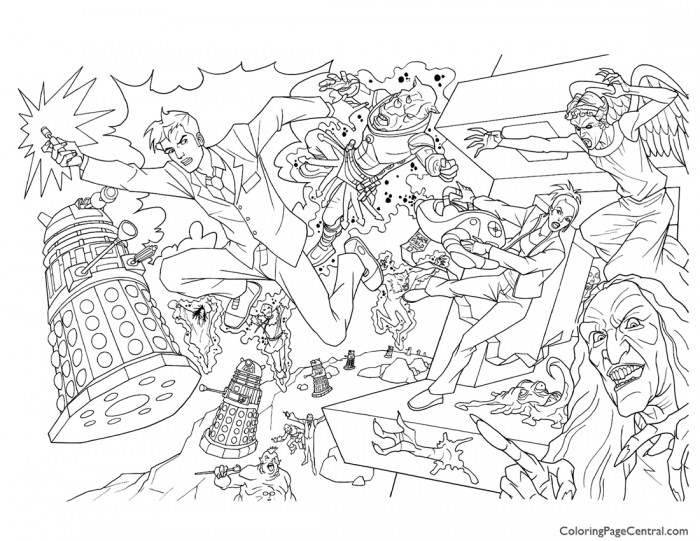 700x541 Doctor Who 01 Coloring Page Coloring Page Central