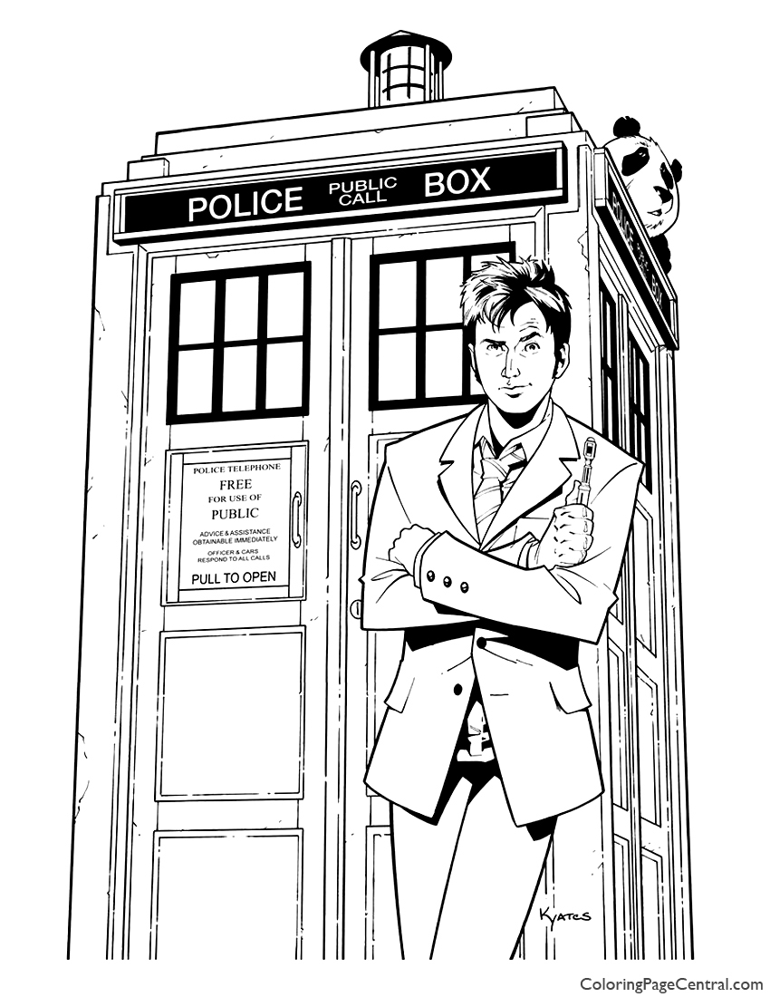 850x1100 Doctor Who 04 Coloring Page Coloring Page Central